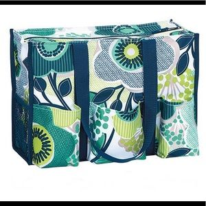 Thirty One zip top utility tote in fab floral
